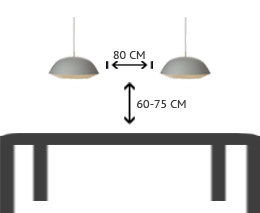 lampe højde over bord